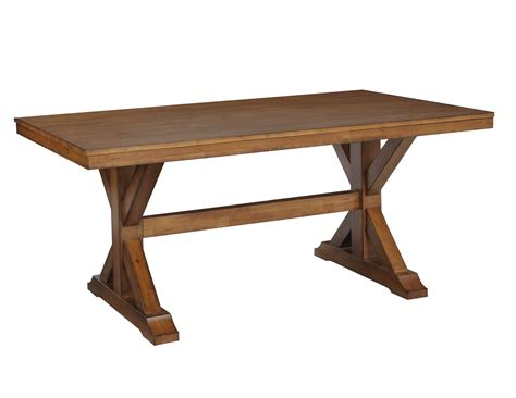 Canyon Solid Hardwood Trestle Dining Table