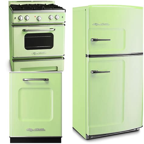mint green kitchen appliances sparkling white kitchens with big chill appliances 7523