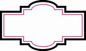 Box Label - Pink And Black Clip Art at Clker.com - vector ...