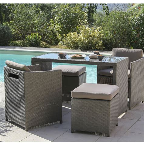 table et chaises de jardin leroy merlin salon de jardin foggia résine tressée gris 1 table 2