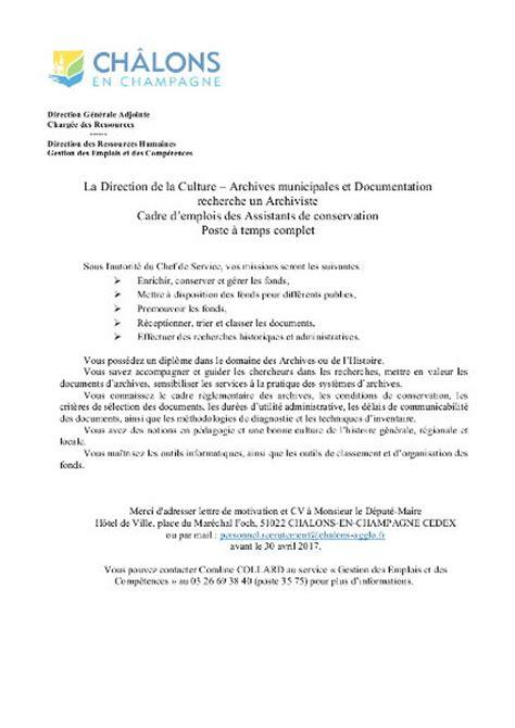 lettre de motivation secretaire administrative modele cv
