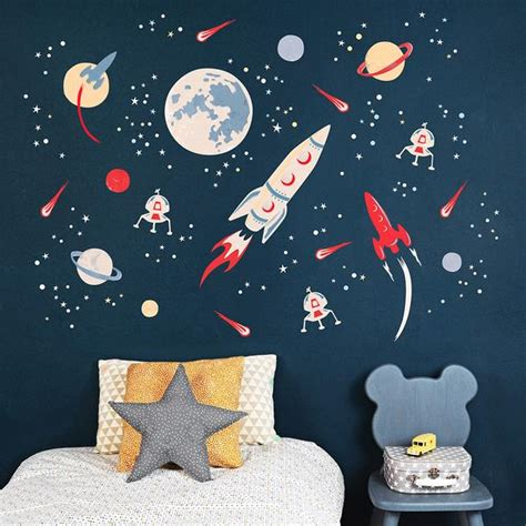 space rocket wall stickers koko kids