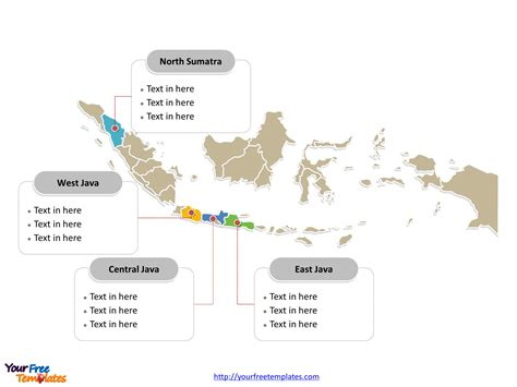 indonesia editable map  powerpoint templates