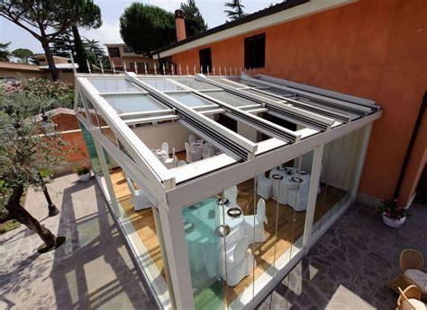 verande in vetro per terrazzi coperture mobili per esterni per terrazzi tettoie mobili