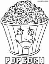 Popcorn Coloring Pages Box Drawing Getdrawings Colorings Duathlongijon sketch template