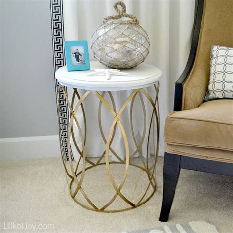 table that turns you upside down paint a trash can and turn it upside down gold and white