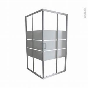 Porte de douche coulissante elie angle 90x90 cm verre for Porte douche 90x90