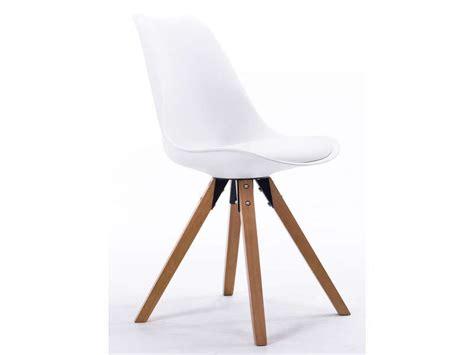 chaises promo chaise foxtrot coloris blanc vente de chaise conforama