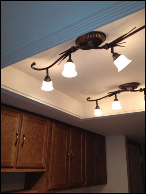 Kitchen: Replacing Kitchen Fluorescent Light Fixtures Home