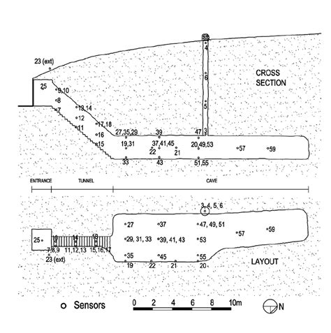 cross section  layout   underground wine cellar