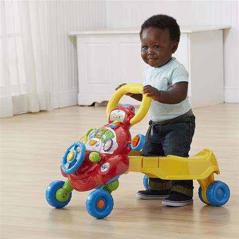baby ride vtech stand boys sit gifts toys walker push christmas wft
