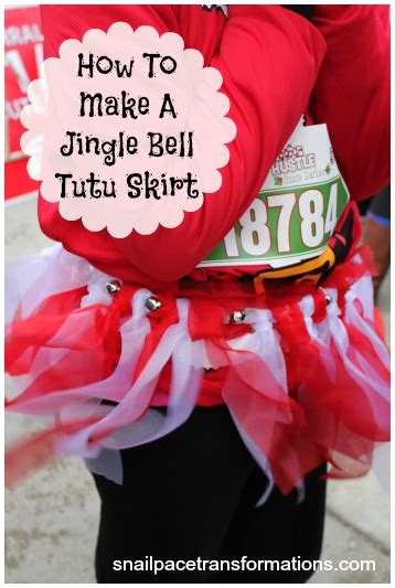 how to make jingle bells how to create a jingle bell tutu skirt snail pace transformations