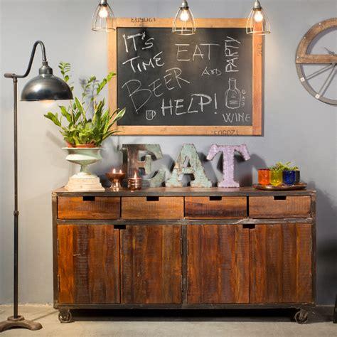 vintage credenza credenza vintage legno e ferro mobili stile industriale
