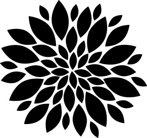 petals flower clipart silhouette
