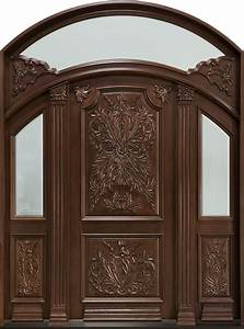 Front Door Custom - Double - Solid Wood with Walnut Finish