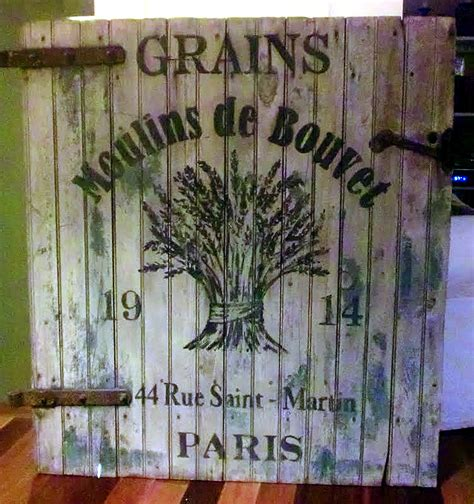 rustic french grains sign  graphics fairy