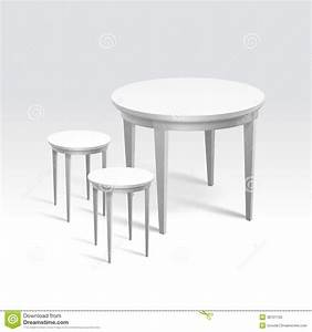 Vector Empty Round Table With Two Chairs Royalty Free