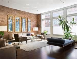 New York Loft Apartment Living Room