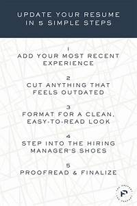 Help With Resume Wording How To Update Your Resume In 5 Simple Steps The Prepary