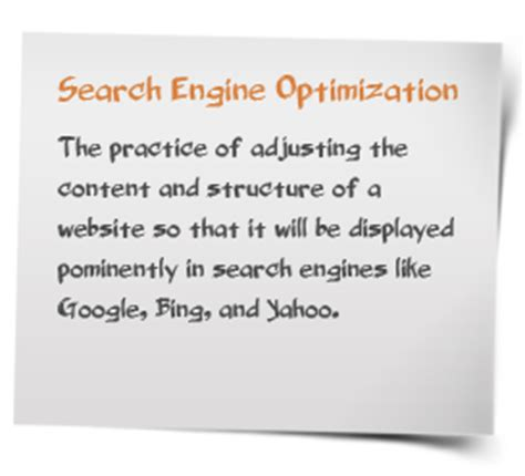 Define Search Engine Optimisation - service marketing services baltimore md