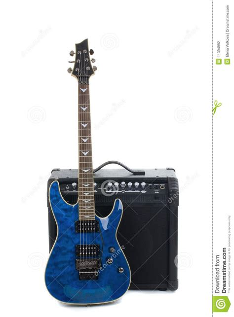 guitar amplifier  electric guitar stock photo image