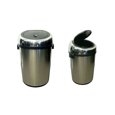 Commercial Size Stainless Steel Automatic Trash Can By
