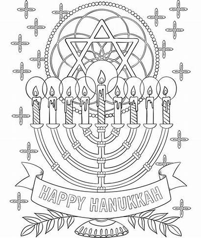 Coloring Hanukkah Pages Menorah Happy Collage Crayola