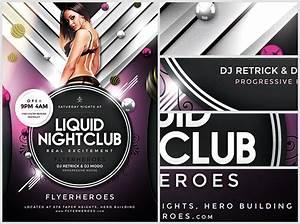 liquid nightclub flyer template flyerheroes With nightclub flyers templates