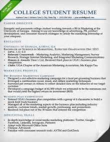 simple resume template for students sle resumes for college students template idea