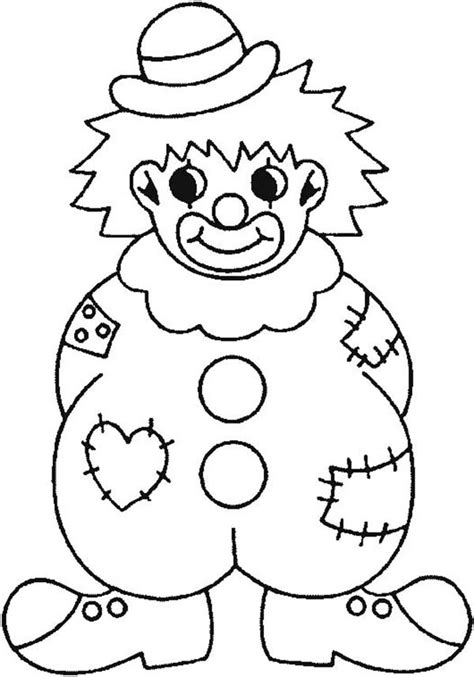 Kleurplaat Clowsgezicht by Clown Wearing Raggery Clothes Coloring Page Clown Wearing