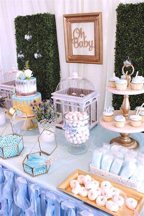 baby boy dessert table kara s party ideas darling quot oh baby quot boy baby shower kara s party ideas