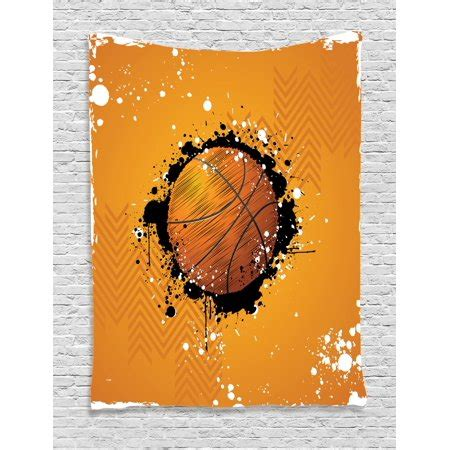 Abstract lines in the corner of the room or up against a doorway look like this basketball vinyl wall decal is a sporty way to add to any basketball theme room decor. Basketball Tapestry, Basketball and Paint Splashes on Abstract Grungy Background Sport Theme ...