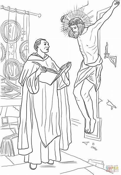 Coloring Pages Thomas St Aquinas Bible Sheets