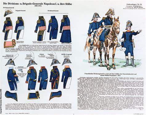 tavole dei colori generali di divisione e di brigata francesi tavole
