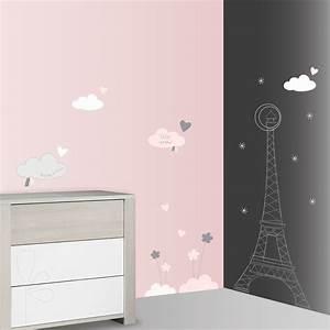 Sticker Chambre Bebe : stickers chambre b b xxl nuage lilibelle de sauthon baby deco sur allob b ~ Melissatoandfro.com Idées de Décoration