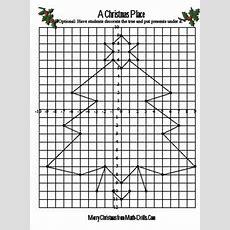 Homeschool Parent Christmas Tree Coordinate Graphing