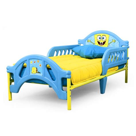 spongebob toddler bedding find the spongebob toddler bed for less at walmart