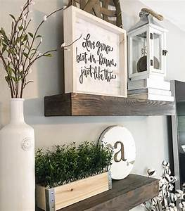 floating shelves wood shelves farmhouse decor farmhouse With kitchen cabinets lowes with wall art at hobby lobby