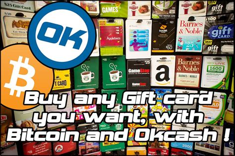 Use bitcoin to buy gift cards at egifer.com or with the egifter mobile app. Use Okcash and Bitcoin: buy Amazon & 399+ Gift Cards, do SEPA payments and Direct Bank Deposits