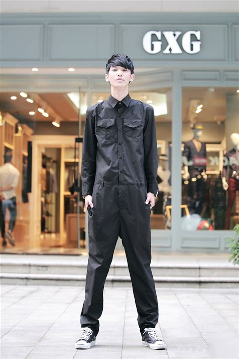 personalized mens jumpsuit overalls roll  hem fashion