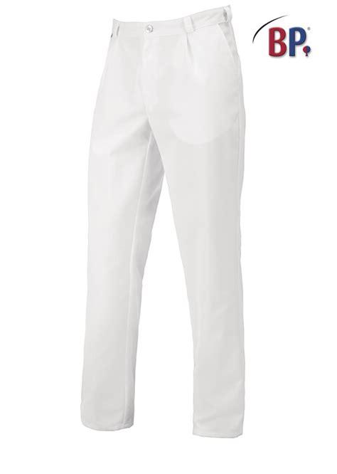 chaussures de securite cuisine pantalon blanc à pinces bp pour homme tissu stretch