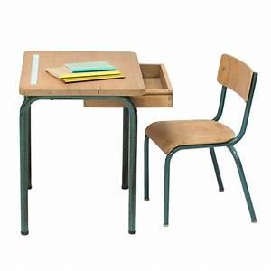Chaise D école : bureau et chaise d 39 cole vintage anatole ~ Teatrodelosmanantiales.com Idées de Décoration