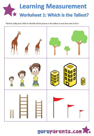 learning measurement worksheets guruparents