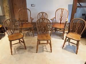 cloverleaf home interiors chairs set of 6 beech elm c1880 antiques atlas