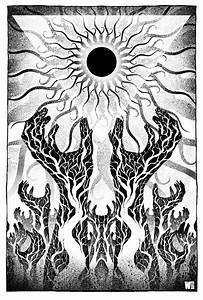 A Sun that Never Sets Black and White by W-Orks on DeviantArt