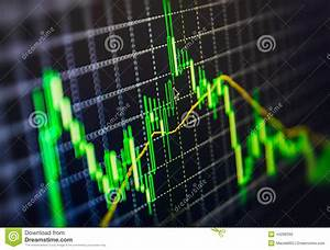 Candlestick Stock Chart Display Of Stock Market Quotes Chart Graph On Monitor Live