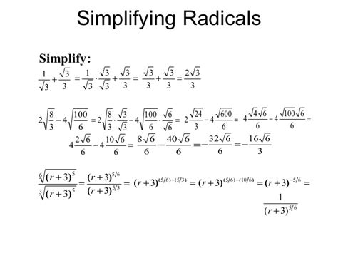 how to do simple radical form simplifying radical expressions rational exponents