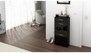 Petit Meuble à Chaussures : petit meuble range chaussures design novomeuble ~ Teatrodelosmanantiales.com Idées de Décoration