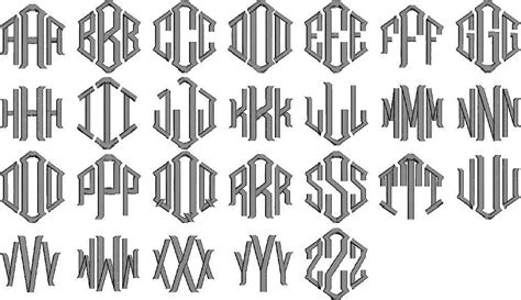 monogram styles fonts