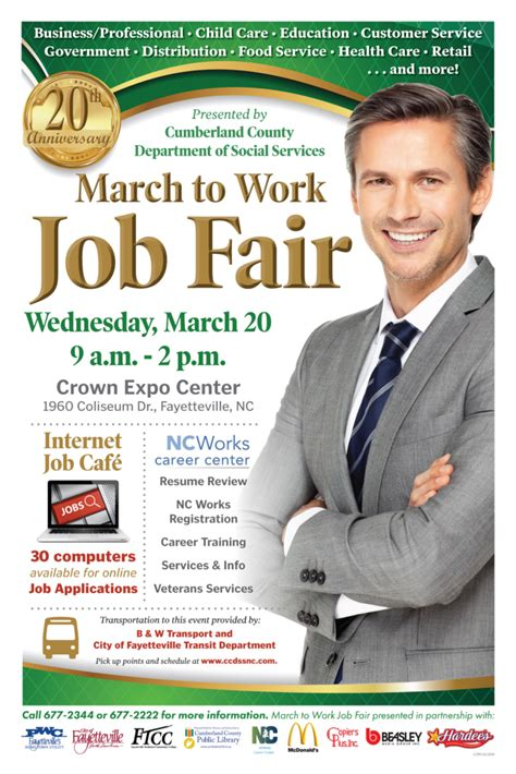 march  work job fair  ccdssnc